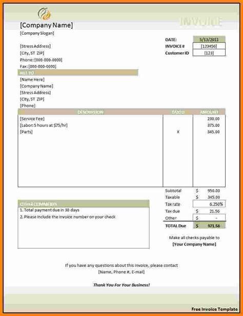 word document templates free 7 invoice template word document free ledger paper