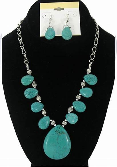 Turquoise Necklace Pendant Beads Chain Genuine Stones