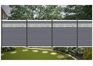 komplett set fur 909 meter wpc steckzaun sichtschutz zaun With französischer balkon mit gartenzaun metall 180 cm hoch