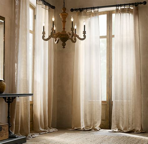 classic home collection drapery hardware open weave sheer linen drapery drapery restoration