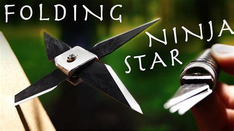 retractable ninja star folding spy throwing