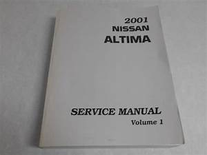 2001 01 Nissan Altima Service Repair Manual Vol 1 Dealer