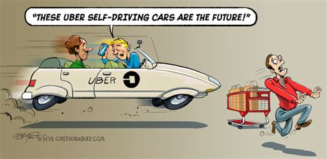 Uber Self-driving Car Cartoon Cartoon