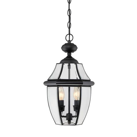 lantern pendant light black shop portfolio brayden 18 5 in mystic black outdoor