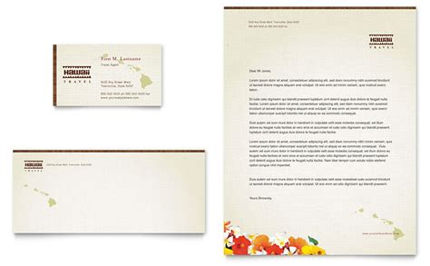 travel template video editing hawaii travel vacation business card letterhead template