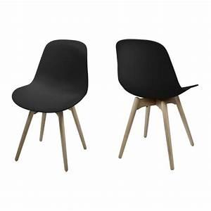 Chaise Scandinave Noir : chaise nordic design style scandinave noir mykaz ~ Teatrodelosmanantiales.com Idées de Décoration