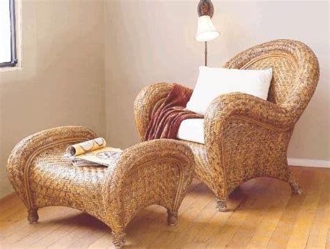 Pottery Barn Wicker Chair And Ottoman #brooklyn