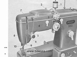 Pfaff 332 260 Sewing Machine Threading Diagram