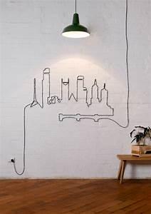 Deko Für Die Wand : tolle do it yourself deko aus kabeln und seilen f r die wand ~ Orissabook.com Haus und Dekorationen