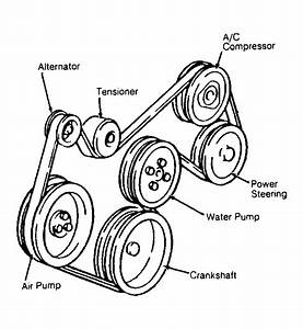 1990 Chevrolet Cavalier Serpentine Belt Routing And Timing
