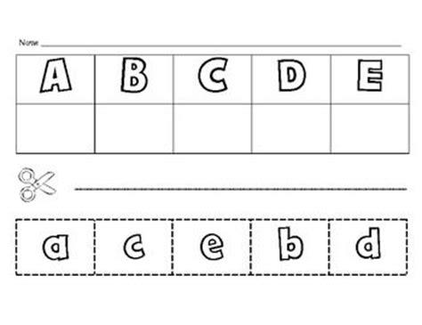 letter matching cut and paste alphabet activities pinterest