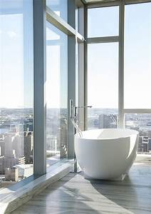 Stylish And Modern Bathroom City View