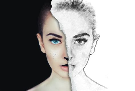 where to get ink half sketch effect photoshop tutorial