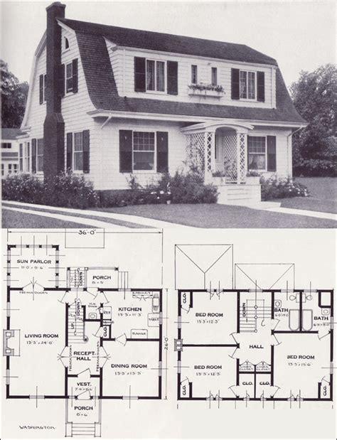 vintage home plans dutch colonial revival  washington standard homes company