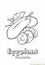 Eggplant Coloring Vegetables Aubergine Kleurplaat Ausmalbilder Groente Colorear Dibujos Berenjena Coloringpages101 Kleurplaten Printable Imprimir Gratis sketch template