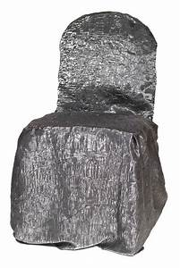 Charcoal Crushed Shimmer Chair Covers Table Linen