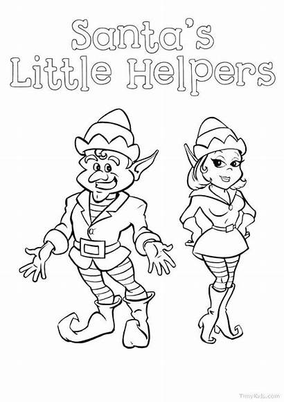Elf Coloring Pages Shelf Printable Sheets Below