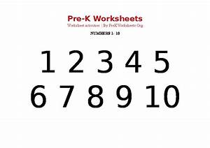 Preschool 1-10 Numbers Black PDF | Pre K Worksheets Org