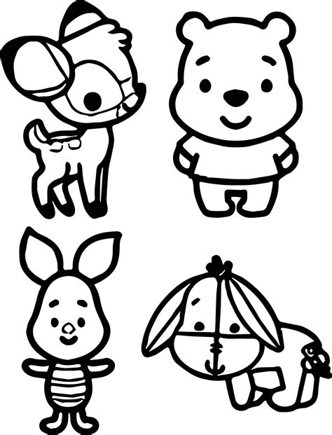 Kleurplaat Winnie The Pooh Baby by Baby Pooh And Piglet Coloring Pages Get Sketch Coloring Page