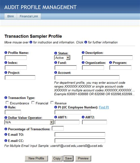 Transaction Sampling Transactions Included Target Profiles
