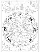 Witch Wicca Grimoire Magick Witches Pagan Cesari Sabbats Malbuch Astrological Hexerei Zauberbuch Hampdenlodgethame Covenlife Colorcity sketch template