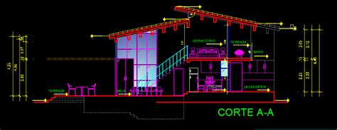 story small house  dwg plan  autocad designs cad