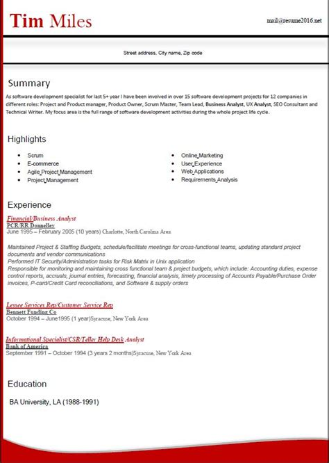 Resume Format 2016  12 Free To Download Word Templates. Child Life Resume. Resume Format For Experience Holder. Resume Info. Landscaping Duties On Resume. Qtp 1 Year Experience Resume. Web Design Skills Resume. Uc Berkeley Career Center Resume. Areas Of Interest Resume