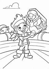 Jake Coloring Pirates Neverland Pages Land Never sketch template