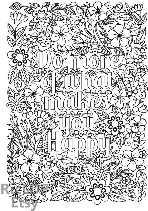 what color makes you happy do more of what makes you happy coloring page for