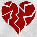 Broken Heart Grunge | Grunge textured broken heart symbol ...