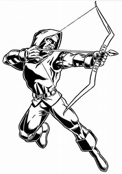 Arrow Coloring Pages Adult Cw Superhero Marvel