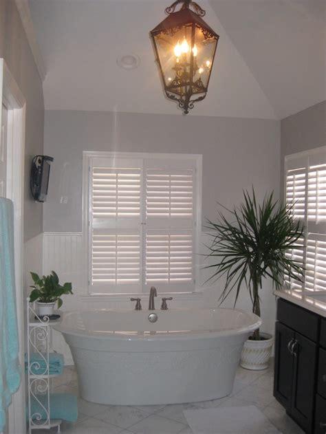 gorgeous white black gray bathroom  baby blue