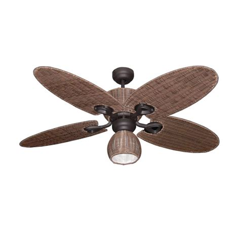 hamilton ceiling fan with light bronze with palm