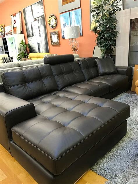 fiore exclusive italian leather sectional sofa leather