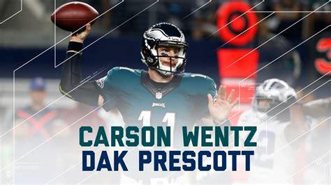 carson wentz dak prescott mash  eagles  cowboys