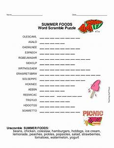 SUMMER WORD SEARCH and WORD SCRAMBLES - Grades 3-4