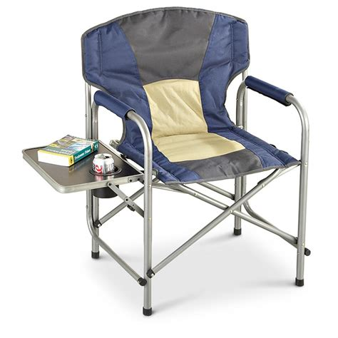 chair with side table guide gear director 39 s chair with side table 164012