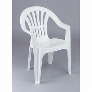 Lot 12 Chaises De Jardin En Plastique Blanc ELBA Achat