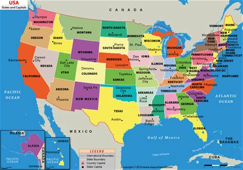 united states map  capitals  states  capitals map