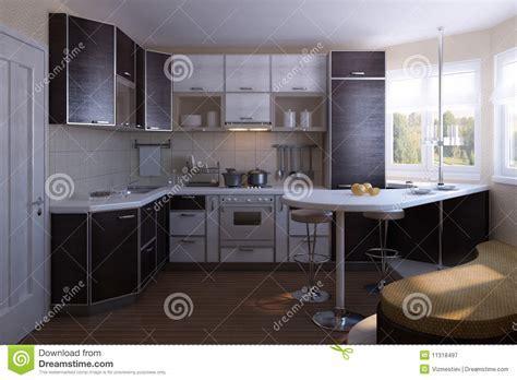 Nice kitchen design stock illustration. Image of