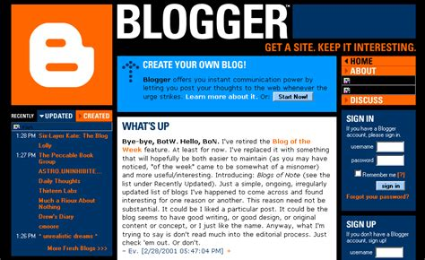 Gallery Of Blogger's Past