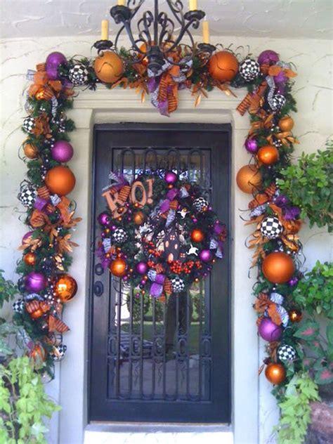 colorful halloween front door ideas homemydesign