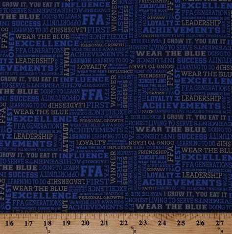 cotton ffa  blue agricultural education words