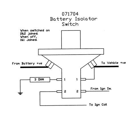 Battery Isolator Switch Removable Key Splash Proof