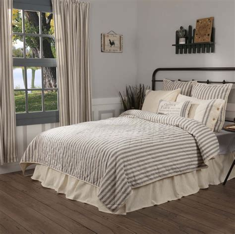 ticking stripe quilt market place ticking stripe quilt piper classics