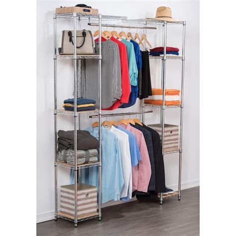 Closet Organizer 84 in h chrome expandable closet organizer tbfz