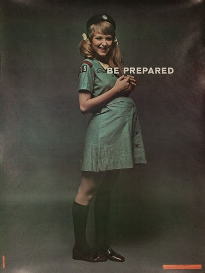 Dp Vintage Posters Be Prepared Pregnant Girl Scout