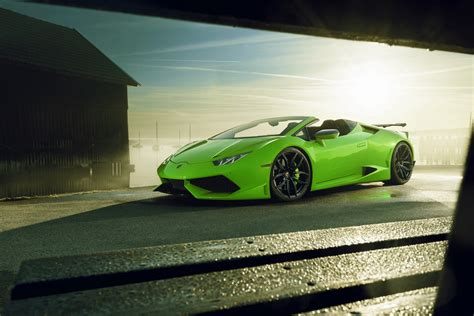 lamborghini huracan spyder   novitec  largo treatment