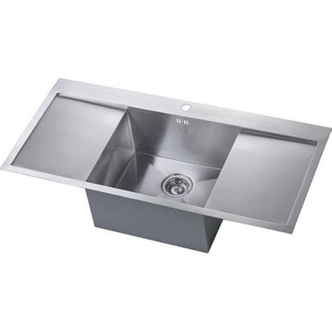 large kitchen sink with drainer zen uno drainer sink notjusttaps co uk 8898