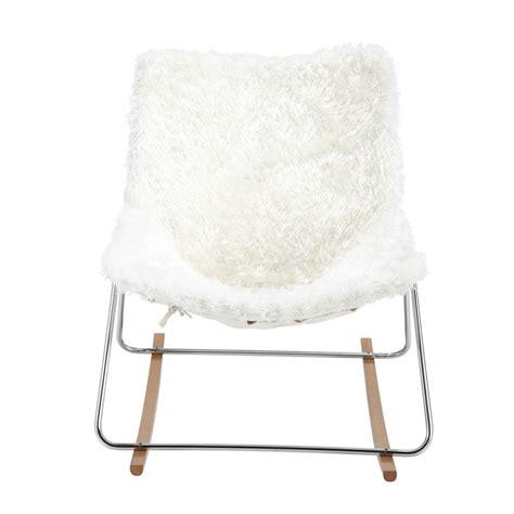 fauteuil en fausse fourrure guariche en tissu ivoire g1 maisons du monde